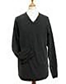 Click to enlarge image sweater-lambswool-silk-v-neck-charcoal-.jpg