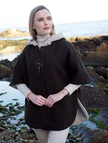 Click to enlarge image t31-charcoal-Tweed-Poncho.jpg